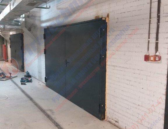 Распашные Противопожарные ворота EI60 глухие